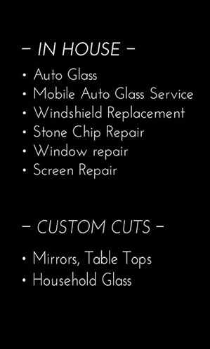 A list of the Auto Glass services offered by Jackson Glass Works