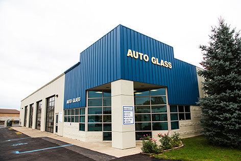A photograph of the Auto Glass division of Jackson Glass works